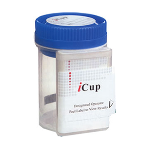 iCup - 10 panel (25 count) COC THC OPI AMP mAMP BZO BAR OXY MDMA PPX